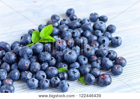 Blueberry On Woden Table