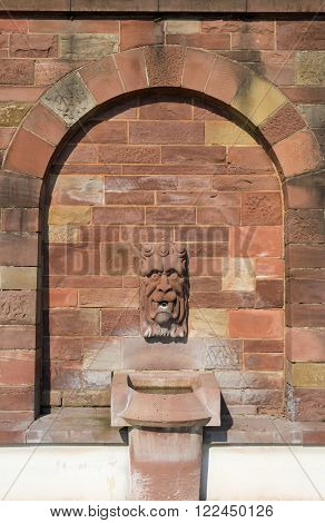 Gargoyle at the shore of the river Main in Aschaffenburg, Germany