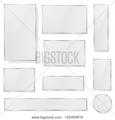 Opaque Glass Plates In Gray Colors