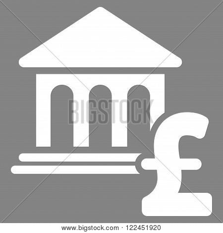 Museum Pound Payment vector icon. Museum Pound Payment icon symbol. Museum Pound Payment icon image.