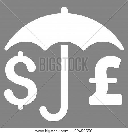 Pound and Dollar Financial Protection vector icon. Pound And Dollar Financial Protection icon symbol. Pound And Dollar Financial Protection icon image.