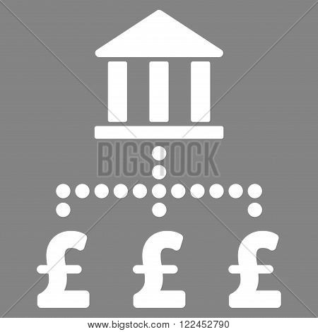 Pound Bank Payments vector icon. Pound Bank Payments icon symbol. Pound Bank Payments icon image. Pound Bank Payments icon picture. Pound Bank Payments pictogram. Flat pound bank payments icon.