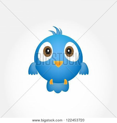 Abstract blue bird. Blue bird over white background - vector illustration.