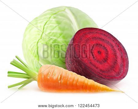 Isolated Fresh Vegetables