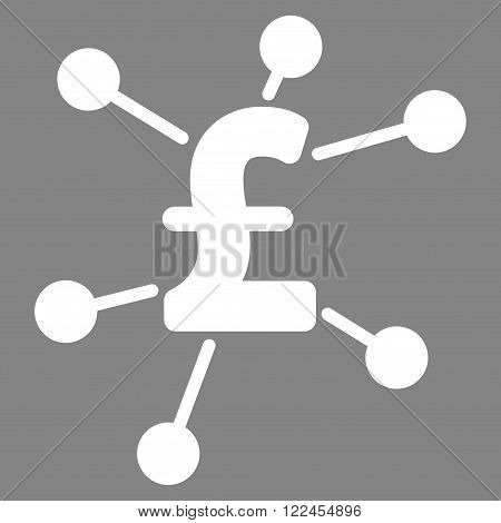 Pound Links vector icon. Pound Links icon symbol. Pound Links icon image. Pound Links icon picture. Pound Links pictogram. Flat pound links icon. Isolated pound links icon graphic.
