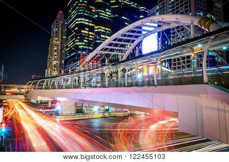 Bangkok - November 2: Chong Nonsi Station is a BTS sky-train station on November 2, 2015 in Bangkok, Thailand.