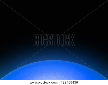 Isolated great ball or star in foreground.