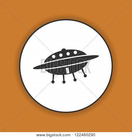 UFO icon. Flat design style eps 10