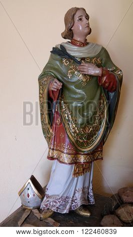 STITAR, CROATIA - AUGUST 27: Saint Valentine martyr in the chapel in the village Stitar, Croatia on August 27, 2015