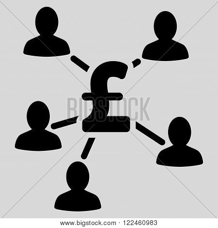 Pound Payment Clients vector icon. Pound Payment Clients icon symbol. Pound Payment Clients icon image. Pound Payment Clients icon picture. Pound Payment Clients pictogram.