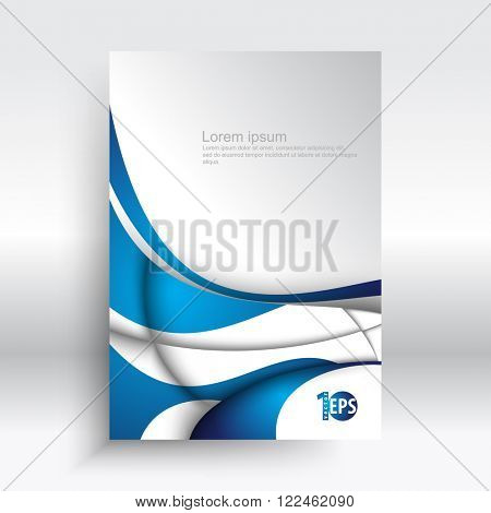 trendy abstract wave elements corporate visual design. eps10 vector background