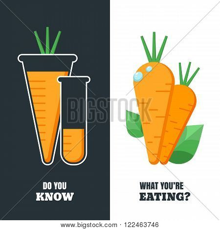 Healthy And Gmo Food Concept. Do You Know What You're Eating.