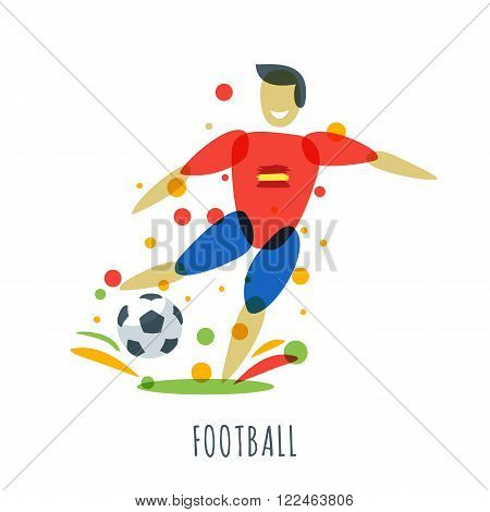 Euro 2016. Football Championship. Spanish Player With Ball.