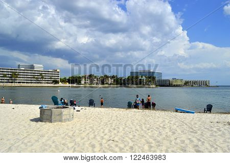 Ben T Davis Beach Florida USA - May 12 2015: