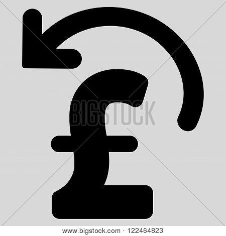 Undo Pound Payment vector icon. Undo Pound Payment icon symbol. Undo Pound Payment icon image. Undo Pound Payment icon picture. Undo Pound Payment pictogram. Flat undo pound payment icon.
