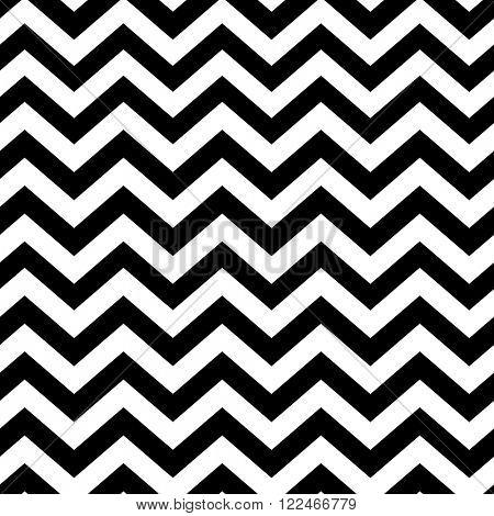 Chevron seamless pattern. Black and white. Raster version.