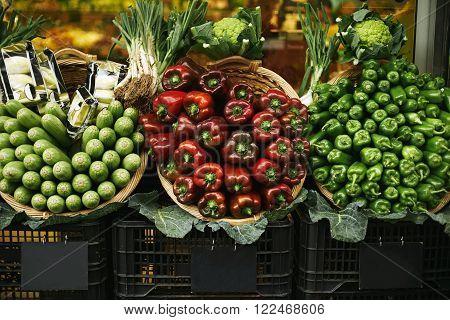 Harvest Set Presented On Sale In Basket