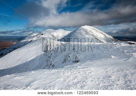 Beautiful view from the highest Irish mountain Carrauntoohil