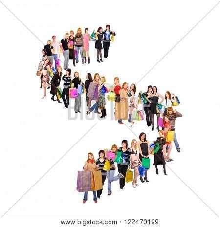 People in Queue Big Group