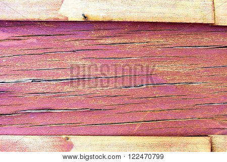 purple and violet wooden rustic background or painted wood boards texture. The frame and copy space. Cracks and crevices on the surface of the plywood. Horizontal orientation