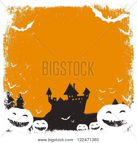 Halloween themed background with space for text and isolated borders. Raster version