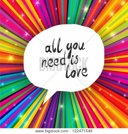All You Need Is Love Poster. Raster version