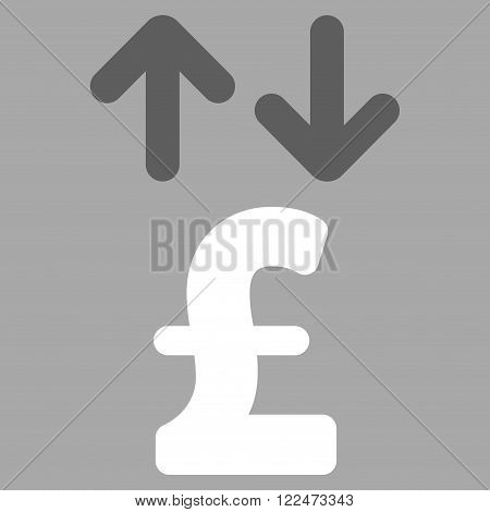 Pound Transactions vector icon. Pound Transactions icon symbol. Pound Transactions icon image. Pound Transactions icon picture. Pound Transactions pictogram. Flat pound transactions icon.