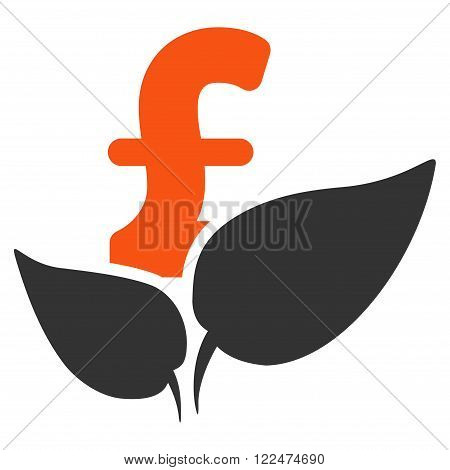 Agriculture Pound Startup vector icon. Agriculture Pound Startup icon symbol. Agriculture Pound Startup icon image. Agriculture Pound Startup icon picture. Agriculture Pound Startup pictogram.