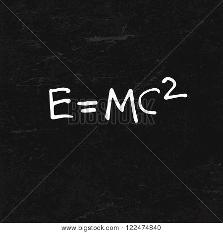 E=mc2 Formula on BlackBoard Texture. Raster version