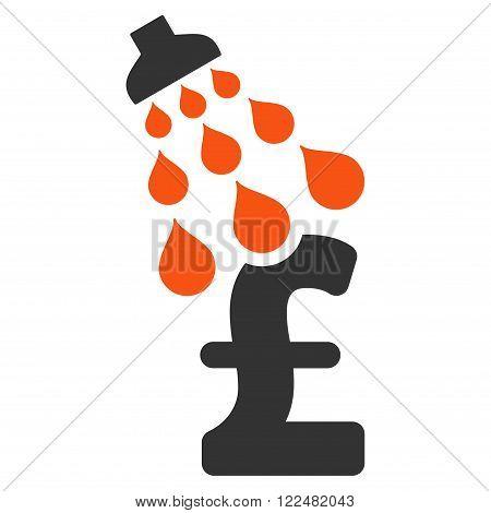 Pound Shower vector icon. Pound Shower icon symbol. Pound Shower icon image. Pound Shower icon picture. Pound Shower pictogram. Flat pound shower icon. Isolated pound shower icon graphic.