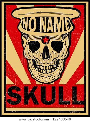 skull illustration / a mark of the danger warning / T-shirt graphics / cool skull illustration