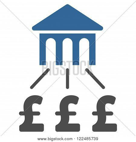 Pound Bank Structure vector icon. Pound Bank Structure icon symbol. Pound Bank Structure icon image. Pound Bank Structure icon picture. Pound Bank Structure pictogram. Flat pound bank structure icon.