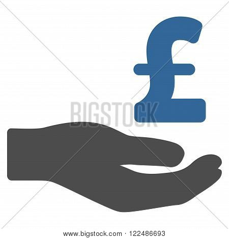 Pound Donation vector icon. Pound Donation icon symbol. Pound Donation icon image.