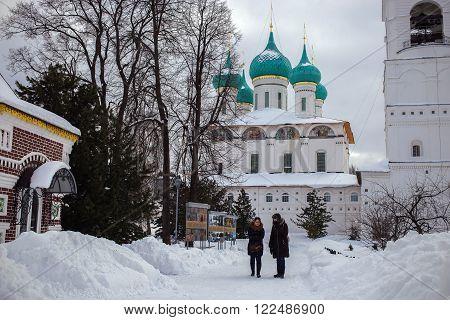YAROSLAVL, RUSSIA, FEBRUARY 23. The Tolga orthodox Monastery about Yaroslavl, Russia founded in the 14th century. It is photographed on february 23, 2016.
