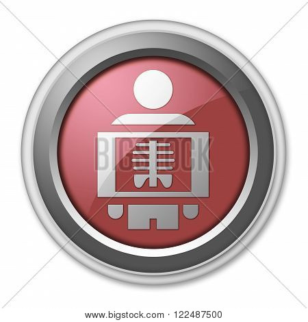 Image Picture Icon Button Pictogram with X-Ray symbol