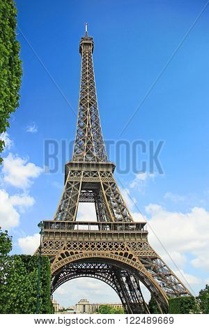 Eiffel Tower view from Mars Field Paris France