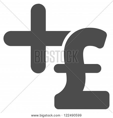 Medicine Pound Price vector icon. Medicine Pound Price icon symbol. Medicine Pound Price icon image. Medicine Pound Price icon picture. Medicine Pound Price pictogram. Flat medicine pound price icon.