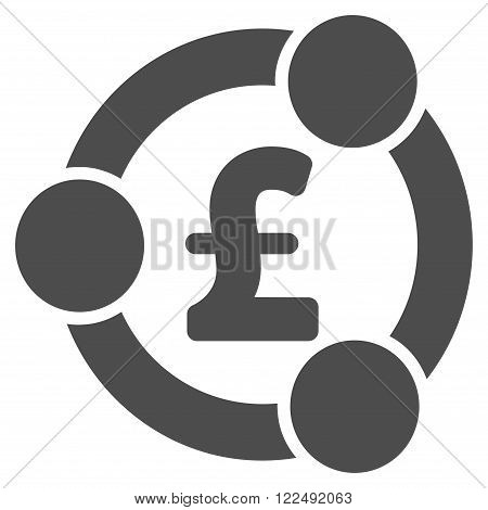 Pound Financial Collaboration vector icon. Pound Financial Collaboration icon symbol. Pound Financial Collaboration icon image. Pound Financial Collaboration icon picture.
