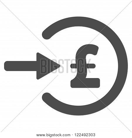 Pound Income vector icon. Pound Income icon symbol. Pound Income icon image. Pound Income icon picture. Pound Income pictogram. Flat pound income icon. Isolated pound income icon graphic.
