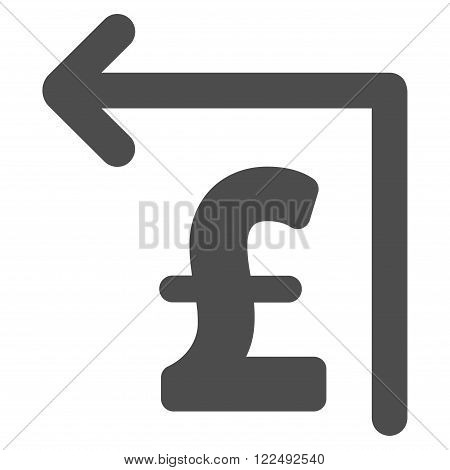 Pound Moneyback vector icon. Pound Moneyback icon symbol.