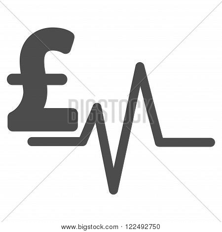 Pound Pulse vector icon. Pound Pulse icon symbol. Pound Pulse icon image.