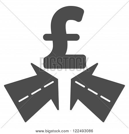 Pound Success Roads vector icon. Pound Success Roads icon symbol. Pound Success Roads icon image. Pound Success Roads icon picture. Pound Success Roads pictogram. Flat pound success roads icon.