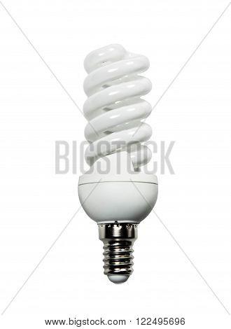 Power saving lamp isolated on white background