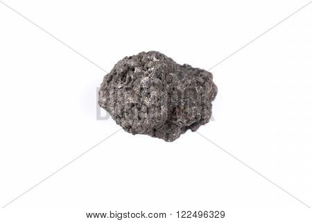 Volcanic stones on a white background - Etna Italy