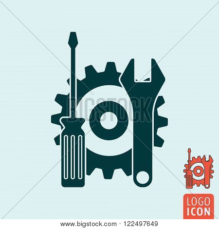 Service icon. Service logo. Support symbol. Service tools icon isolated. Vector illustration