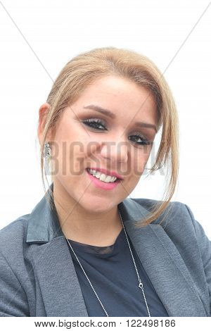 Portrait of a caucasion contemporary young business woman