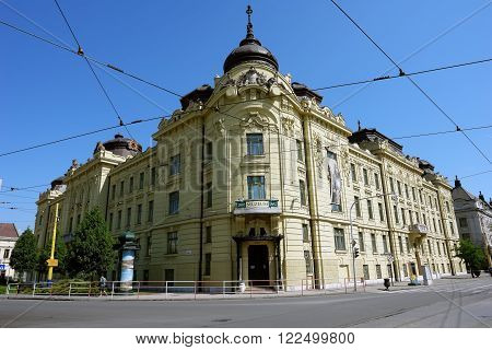 KOSICE, SLOVAKIA -MAY 01, 2014: Old historic building of museum in Kosice city, Slovakia.