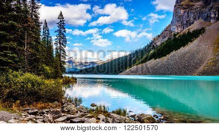 Turquoise water of Lake Louise in Banff National Park