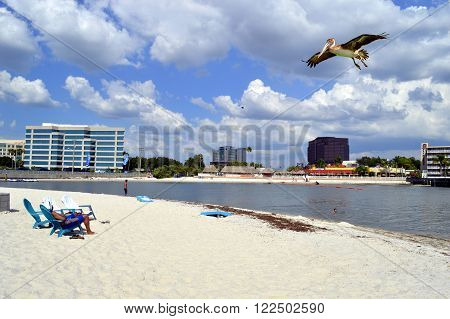 Ben T Davis Beach Florida USA - May 12 2015 :