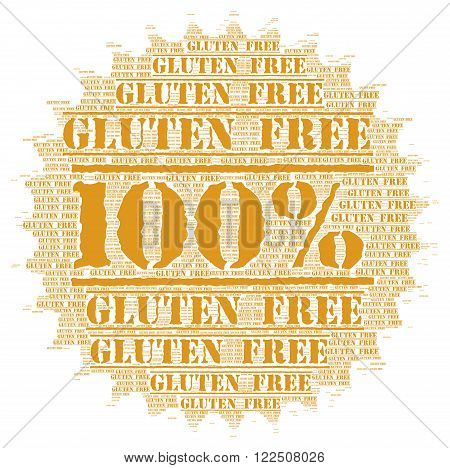 100% gluten free button badge with a white background